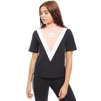 adidas Originals High Neck Chevron T-Shirt - Black - Womens