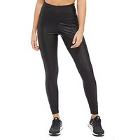 Reebok Metallic High Rise Leggings - Black - Womens