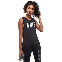 Nike Metallic Dry Miler Running Tank - Black - Womens