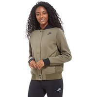Nike Tech Fleece Destroyer Bomber Jacket - Khaki/Black - Womens