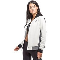 Nike Tech Fleece Destroyer Bomber Jacket - White/Grey - Womens