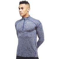 Nike Dry Element Half Zip Running Top - Blue/Grey - Mens