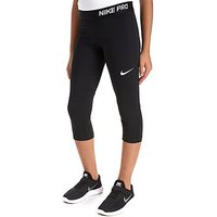 Nike Girls Pro Cool Capri Junior - Black/White - Kids