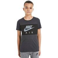 Nike Air Colour Block T-Shirt Junior - Grey/Black - Kids