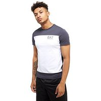 Emporio Armani EA7 Carbon Block T-Shirt - Anthracite/White - Mens