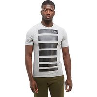 Emporio Armani EA7 7 Lines T-Shirt - Grey/Black - Mens