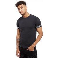 Emporio Armani EA7 Short Sleeve Print T-Shirt - Black - Mens