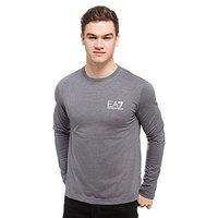 Emporio Armani EA7 Core Long Sleeved T-Shirt - Grey - Mens