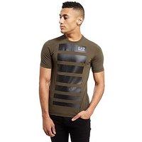 Emporio Armani EA7 7 Lines T-Shirt - Khaki - Mens