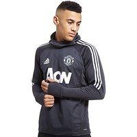 adidas Manchester United 2017 Training Hoodie - Dark Grey - Mens