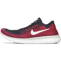 Nike Free Run Flyknit Junior - Black/Pure Platinum/ Crimson - Kids