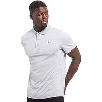 Lacoste Marl Stripe Polo Shirt - Grey/White - Mens