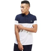 Lacoste Colourblock Polo Shirt - White/Navy - Mens