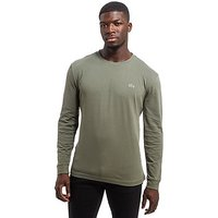 Lacoste Croc Long-Sleeved T-Shirt - Army Green - Mens
