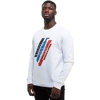 Lacoste Graphic Crew Sweatshirt - White - Mens