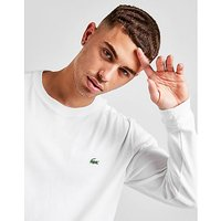 Lacoste Croc Long-Sleeved T-Shirt - White - Mens