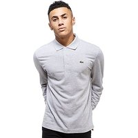 Lacoste Alligator Long Sleeve Polo Shirt - Grey - Mens