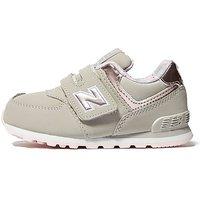 New Balance 574 Infant - Grey/Pink - Kids
