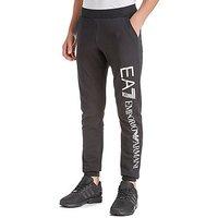 Emporio Armani EA7 Foil Logo Cuff Pants Junior - Black/Silver - Kids