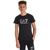 Emporio Armani EA7 Foil Logo T-Shirt Junior - Black/Silver - Kids