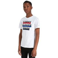 Tommy Hilfiger 3-Colour Logo T-Shirt Junior - White/Red/Blue - Kids