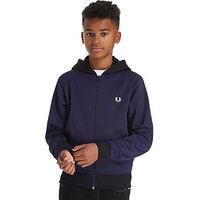 Fred Perry Hooded Track Top Junior - Navy/Black - Kids
