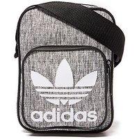 adidas Originals Mini Melange Small Items Bag - Grey/Black - Mens