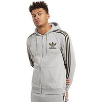 adidas Originals California Full Zip Hoody - Mid Grey Heather/Cargo - Mens