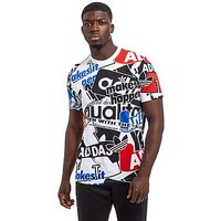 adidas Originals Loud AOP T-Shirt - White - Mens