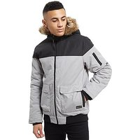 Nanny State Odin Short Parka Jacket - Grey/Black - Mens