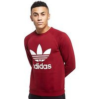 adidas Originals Trefoil Crew Sweatshirt - Burgundy/White - Mens