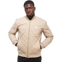 adidas Originals Trefoil Quilted Bomber Jacket - Stone - Mens