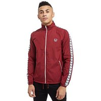 Fred Perry Taped Sports Jacket - Maroon/White - Mens