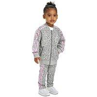 adidas Originals Girls NMD Superstar Tracksuit Infant - Grey/Black/Pink - Kids