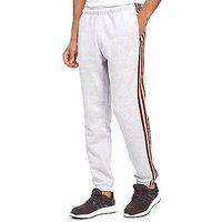adidas 3-Stripes Essential Track Pants - Light Grey Heather/Burgundy - Mens