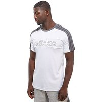 adidas Linear T-Shirt - White/Grey - Mens