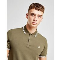 Fred Perry Twin Tipped Short Sleeve Polo Shirt - Green - Mens