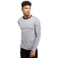 Fred Perry Sports Authentic Longsleeve T-Shirt - Grey Marl - Mens