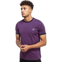 Fred Perry Ringer T-Shirt - Purple - Mens