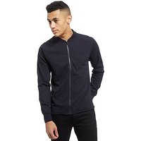 Fred Perry Poly Pique Zip Up Shirt - Navy - Mens