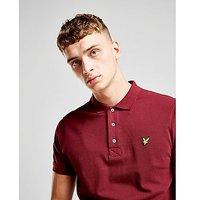 Lyle & Scott Pique Short Sleeve Polo Shirt - Burgundy - Mens