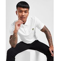 Lyle & Scott Pique Short Sleeve Polo Shirt - White - Mens