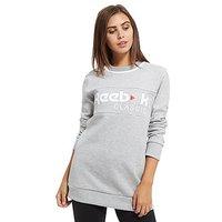Reebok Classics Iconic Fleece Crew Sweatshirt - Grey Marl - Womens