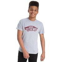 Vans Off the Wall Check Logo T-Shirt Junior - Grey/Red/ Navy - Kids