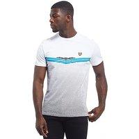 Lyle & Scott Mclean Graphic T-Shirt - White/Blue/Black - Mens