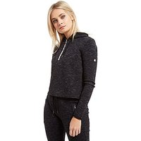 Superdry Sport Gym Tech Cropped Hoodie - Black - Womens