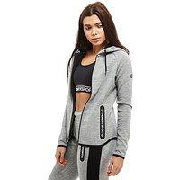 Superdry Gym Tech Front Zip Hoodie - Grey/Black - Womens