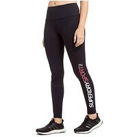 Superdry Sport High Waist Tights - Black - Womens