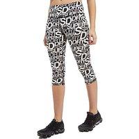Superdry Sport All Over Print Capri Leggings - Black/White - Womens