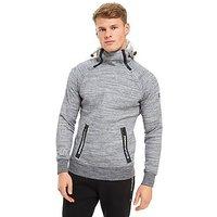 Superdry Sport Gym Tech Overhead Hoodie - Grey - Mens